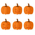 Set of halloween pumpkins Stock Photo