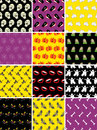 Set of halloween seamless patterns Stock Photography