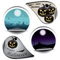 Set of Halloween stickers Royalty Free Stock Photos