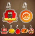 Set of Halloween stickers. Royalty Free Stock Image