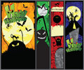 Set of Hallowen Banners Stock Photos