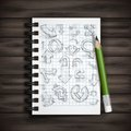 Set of hand drawn doodle arrows vector illustration eps Stock Photo