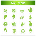 Set of hand drawn eco icons vector art Royalty Free Stock Photography