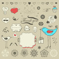 Set of hand drawn elements Stock Photos
