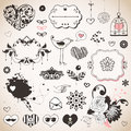 Set of hand drawn elements Stock Images