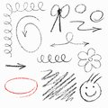 Set of hand drawn elements pastel Royalty Free Stock Image