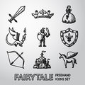 Cute cinderella fairytale vector illustration
