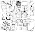 Set of hand drawn paper