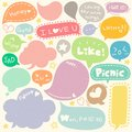 Set of Hand Drawn Speech and Thought Bubbles Doodle Royalty Free Stock Photo