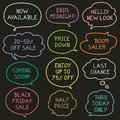 Set of Hand Drawn Speech and Thought Bubbles for Sales