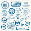 Set hand drawn style badges elements sale Royalty Free Stock Photos