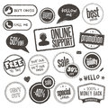 Set of hand drawn style banners and elements Stock Photo