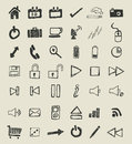 Set of Hand Drawn Symbols Stock Image