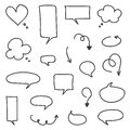 Set of hand-drawn vector arrows and speech bubbles Royalty Free Stock Photo