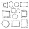 Set of hand drawn vector frames