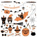 Halloween design elements collection Royalty Free Stock Photo