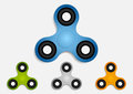 Set of hand fidget spinner toys for stress relief