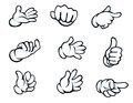 Set of hand gestures in cartoon style for comics design Royalty Free Stock Photos