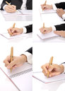Set Of Hand Writing Woman Stock Photo