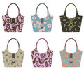 Set of handbags Stock Photos