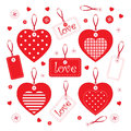 Set of handmade hearts and elements Stock Images