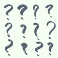 Set of handwritten question marks help symbol faq sign on background vector Stock Photos