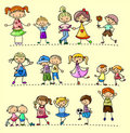 Set happy children,vector Royalty Free Stock Photos