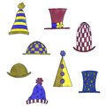 Set of hats Royalty Free Stock Images