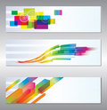 Set of header design Stock Photo