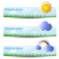 Set of headers - web template Stock Photography