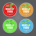 Set healthy food icon vector illustration Royalty Free Stock Image