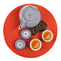 Set of healthy oriental tea Royalty Free Stock Photo