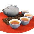Set of healthy oriental tea Royalty Free Stock Photo