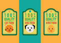 Set of healthy pet food labels and stickers Royalty Free Stock Photo