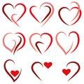Set Heart logo - vector