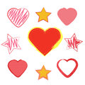 Set heart love and romance valentine s day elements for your design symbol for invitations greetings cards more Royalty Free Stock Image