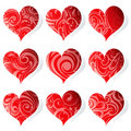 Set of heart-shapes Royalty Free Stock Photography