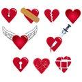 Set of heart shapes