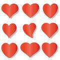 Set Heart - vector