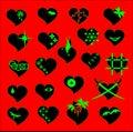 Set of hearts Royalty Free Stock Photo