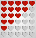 Set of hearts icons Royalty Free Stock Photo