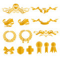 Set of heraldic elements Stock Image