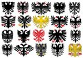 Set of heraldic german eagles