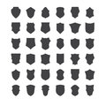 Set of heraldic shields Royalty Free Stock Photo