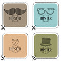 Set of hipster cards four Royalty Free Stock Images