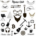 Set hipster icons Royalty Free Stock Photo