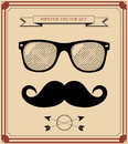 Set of hipster man style graphic elements illustration background backgroundset Royalty Free Stock Images