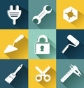 Set of hobby and entertainment flat icons Royalty Free Stock Images