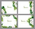 Set Of Holiday Banners With Gr...