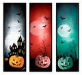 Set of holiday halloween banners vector Stock Photography